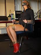 Secretary tied to chair, pic #3