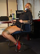 Secretary tied to chair, pic #4
