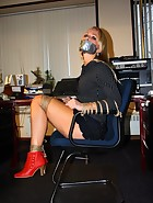 Secretary tied to chair, pic #7