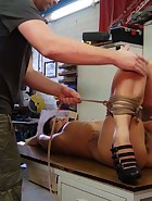 Cameron getting tied to the table, pic #10