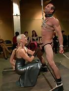 PUBLIC slave humiliation, pic #2