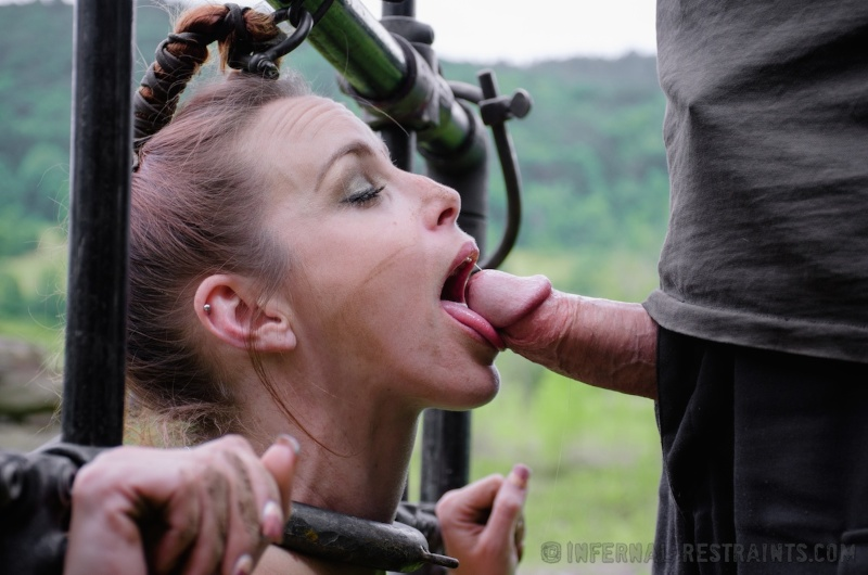 Hogtied ring gag fuck maschine and master throatfuck intro - 3 part 3